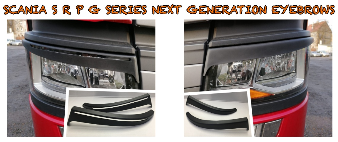 SCANIA S R P G SERIES NEXT GENERATION EYEBROWS