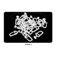 Hooks for curtains Scania R-series (25pcs)