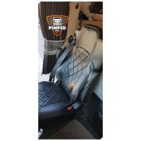 MERCEDES ACTROS MP2 / MP3 / MP4 / AROCS FULL ECO LEATHER SEAT COVERS