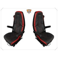 VOLVO FH4/ FM after 2013 FULL ECO LEATHER SEAT COVERS (v)