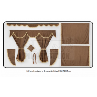 Iveco Brown curtains with PomPom tassels