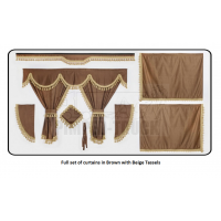 Volvo Brown curtains with classic tassels