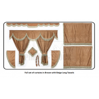 Iveco Brown curtains with long tassels