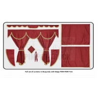 Iveco Burgundy curtains with PomPom tassels