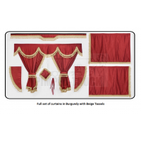 Volvo Burgundy curtains with classic tassels