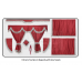 Scania Burgundy curtains with classic tassels