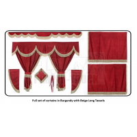 Iveco Burgundy curtains with long tassels