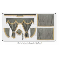 Volvo Grey curtains with classic tassels