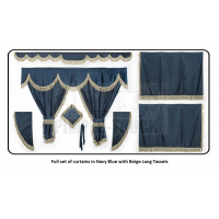 Iveco Nave Blue curtains with long tassels