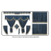 Daf Navy Blue curtains with long tassels