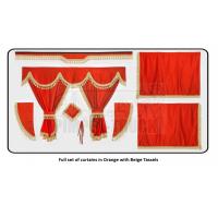 Volvo Orange curtains with classic tassels