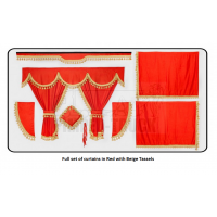 Volvo Red curtains with classic tassels